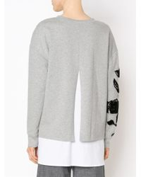 Thakoon Addition - Rose Appliqué Sweatshirt - Lyst