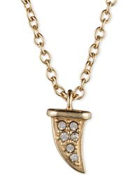 Judith Jack Gold-plated Sterling Silver Crystal and Marcasite Horn Pendant Necklace - Lyst