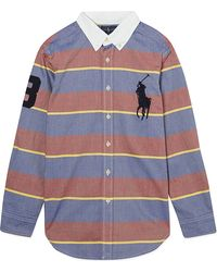 Ralph Lauren Striped Big Pony Shirt S-xl - Lyst