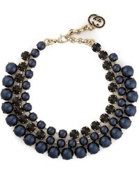 Gucci Pearl Necklace blue - Lyst