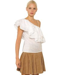 Designers Remix - Manly Flare Cotton Top With Ruffles - Lyst
