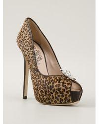 John Richmond Black Label - Leopard Print Stiletto - Lyst