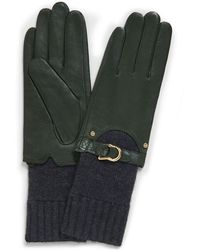 Tory Burch - Leather Knit Glove - Lyst