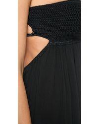 Indah August Crochet Maxi Dress - Black