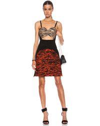 Proenza Schouler Wood Grain Flock Printed Tank Dress - Lyst