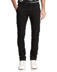 Diesel Black Gold Slim Cotton Twill Cargo Pants black - Lyst