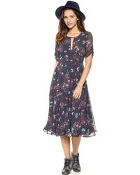 Free People Bonnie Dress  Midnight Combo - Lyst