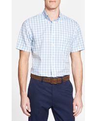Brooks Brothers Regent Fit Short Sleeve Gingham Sport Shirt blue - Lyst