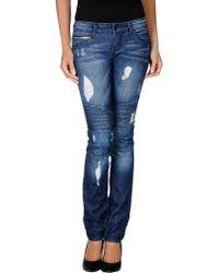 Rockstar Blue Denim Pants - Lyst