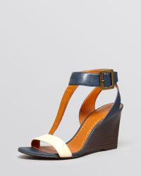 Enzo Angiolini - Open Toe Wedge Sandals Vlade - Lyst