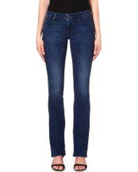 True Religion Gina Bootcut Midrise Jeans Mid Dark Blue Wash - Lyst