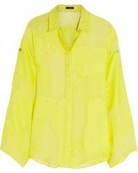 Versace Devorã Silk-blend Shirt - Lyst