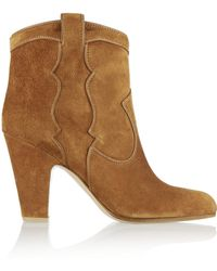 Gianvito Rossi Suede Ankle Boots - Lyst