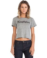 A Fine Line Naughtyland Brothers Crop Tee - Lyst