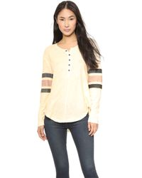 Free People Game Time Henley  - Lyst