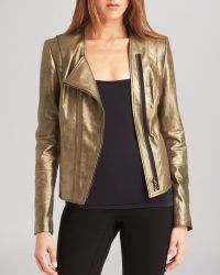 Kenneth Cole Dorice Metallic Leather Jacket