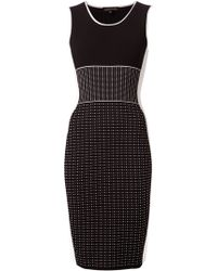 Narciso Rodriguez Knitted Fitted Dress - Lyst