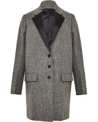 Paco Rabanne Womens Long Wool Tweed Coat - Lyst