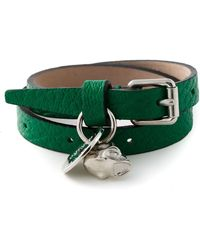 Alexander McQueen Skull Double Wrap Bracelet - Lyst