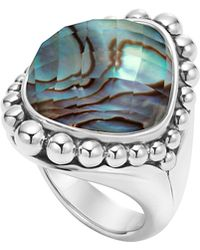 Lagos Maya Serpentine Abalone Dome Ring - Lyst