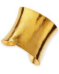 Herve Van Der Straeten Epure Concave Gold Cuff gold - Lyst