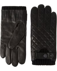 Ben Sherman - Quilted Leather Gloves - Lyst