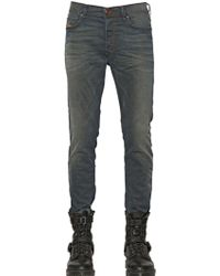 Diesel 17cm Tepphar Stretch Cotton Denim Jeans - Lyst