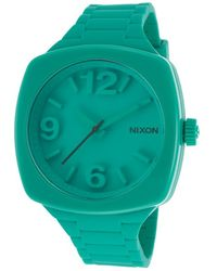 Nixon Womens Dial Teal Rubber Strap and Dial - Lyst