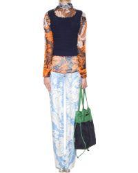 Miu Miu Cashmere Crochet-knit Top - Orange