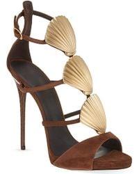 Giuseppe Zanotti Seashell Heeled Sandal - Lyst