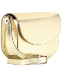 A.P.C. Luxembourg Metallic Leather Shoulder Bag - Lyst