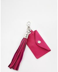Asos Leather Travel Card and Tassel - Lyst