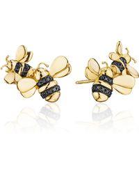 Mimi So - Wonderland Black Diamond Bee Ear Climbers - Lyst