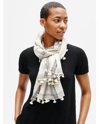 Eileen Fisher Textured Organic Cotton Scarf In White At Nordstrom Rack