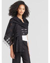 Eileen Fisher - Handwoven Organic Cotton Silk Check Scarf - Lyst