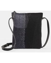 Eileen Fisher Waste No More Felted Crossbody - Black