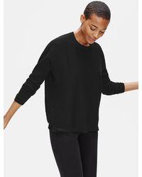 Eileen Fisher Organic Linen Crepe Stretch Box-top - Black