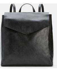Eileen Fisher Grainy Italian Leather Backpack - Black