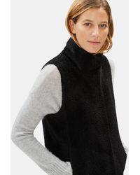 Eileen Fisher Sheared Suri Alpaca Vest - Black