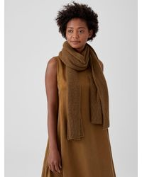 Eileen Fisher Cashmere Silk Bliss Wrap - Brown