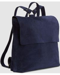 Eileen Fisher Italian Suede Small Backpack - Blue