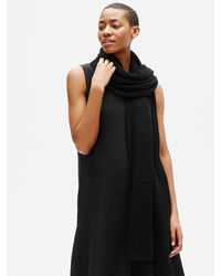 Eileen Fisher Organic Linen Crepe Wrap - Black