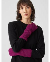 Eileen Fisher Recycled Cashmere Wool Glovelettes - Multicolor
