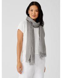 Eileen Fisher Organic Cotton Prism Jacquard Scarf - Gray