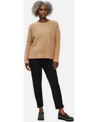 Eileen Fisher - Organic Cotton Twill Slim Ankle Pant - Lyst