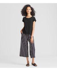 Eileen Fisher - Organic Cotton Jersey Slub Tee - Lyst