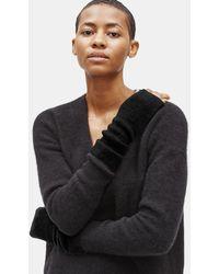 Eileen Fisher Cashmere Silk Bliss Glovelettes - Black