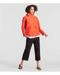 Eileen Fisher - Organic Cotton Nylon A-line Jacket - Lyst