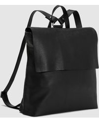 Eileen Fisher Textured Italian Leather Small Backpack - Black