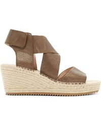 Eileen Fisher - Metallic Leather Willow Wedge Espadrille - Lyst